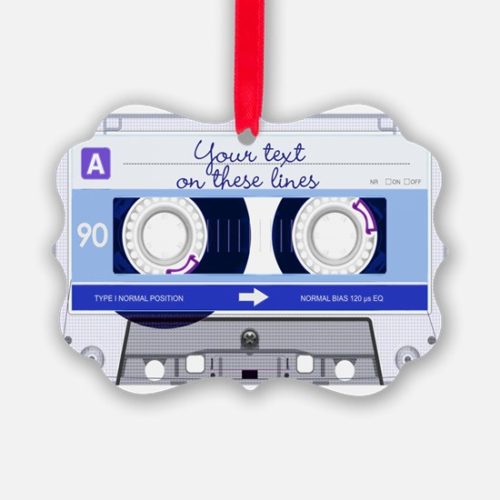 Cassette Tape - Blue Ornament