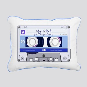 Cassette Tape - Blue Rectangular Canvas Pillow