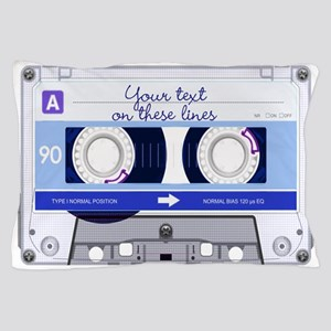 Cassette Tape - Blue Pillow Case