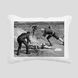 Vintage Sports Baseball Rectangular Canvas Pillow