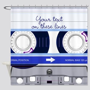 Cassette Tape - Blue Shower Curtain