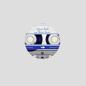 Cassette Tape - Blue Mini Button