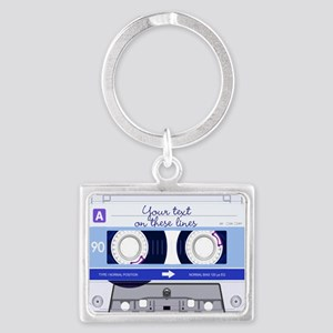 Cassette Tape - Blue Landscape Keychain