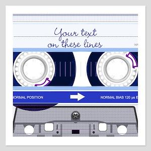 Cassette Tape - Blue 5.25 x 5.25 Flat Cards