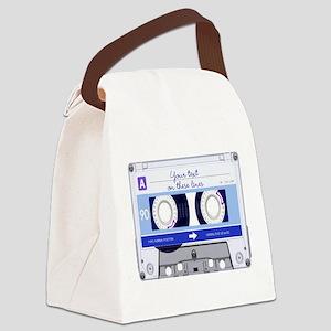Cassette Tape - Blue Canvas Lunch Bag