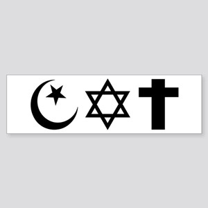 trifaiths.shirt Bumper Sticker