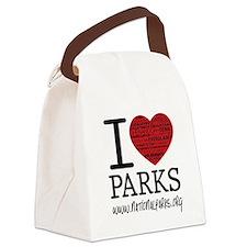 I Heart Parks Canvas Lunch Bag