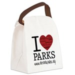 I Heart Parks Canvas Lunch Bag