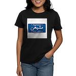 Michigan License Plate Women's Dark T-Shirt
