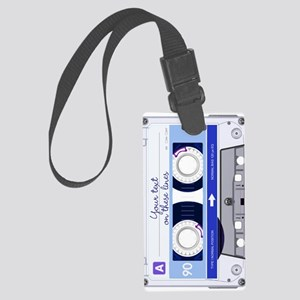 Cassette Tape - Blue Large Luggage Tag