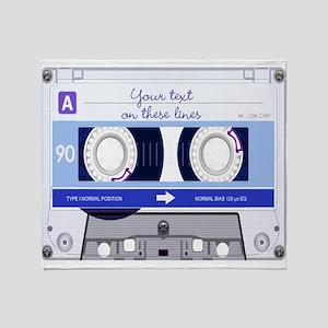 Cassette Tape - Blue Throw Blanket