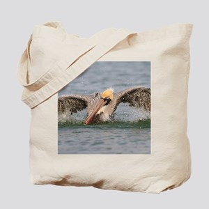 Funny Grumpy Pelican Tote Bag