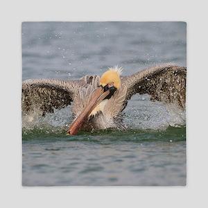 Funny Grumpy Pelican Queen Duvet