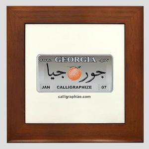 Georgia License Plate Framed Tile