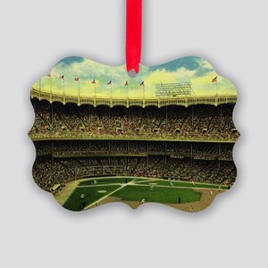 Vintage Sports Baseball Picture Ornament