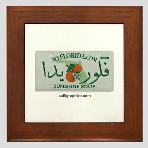 Florida License Plate Framed Tile