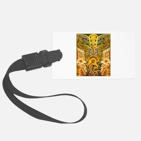 Tribal Gold Luggage Tag