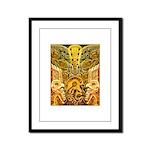 Tribal Gold Framed Panel Print