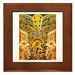 Tribal Gold Framed Tile