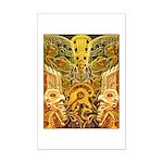 Tribal Gold Mini Poster Print