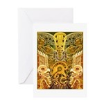 Tribal Gold Greeting Card