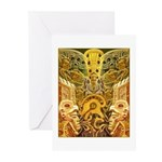 Tribal Gold Greeting Cards (Pk of 10)