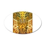 Tribal Gold 20x12 Oval Wall Decal