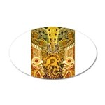 Tribal Gold 35x21 Oval Wall Decal