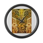 Tribal Gold Large Wall Clock