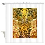 Tribal Gold Shower Curtain