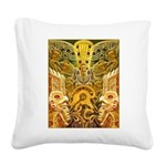 Tribal Gold Square Canvas Pillow