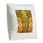 Tribal Gold Burlap Throw Pillow