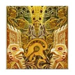 Tribal Gold Tile Coaster
