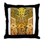 Tribal Gold Throw Pillow