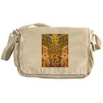 Tribal Gold Messenger Bag