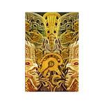 Tribal Gold Rectangle Magnet