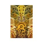 Tribal Gold Rectangle Magnet (100 pack)