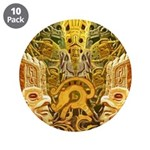 "Tribal Gold 3.5"" Button (10 pack)"