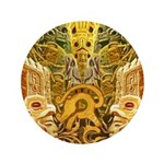 "Tribal Gold 3.5"" Button (100 pack)"