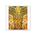 Tribal Gold Square Sticker 3