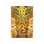 Tribal Gold Sticker (Rectangle 50 pk)