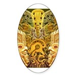 Tribal Gold Sticker (Oval)