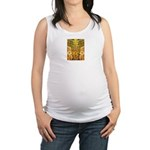 Tribal Gold Maternity Tank Top