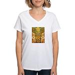Tribal Gold Women's V-Neck T-Shirt