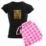 Tribal Gold Women's Dark Pajamas