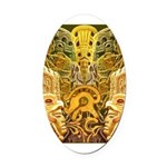 Tribal Gold Oval Car Magnet