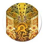 Tribal Gold Round Car Magnet