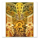 Tribal Gold Square Car Magnet 3