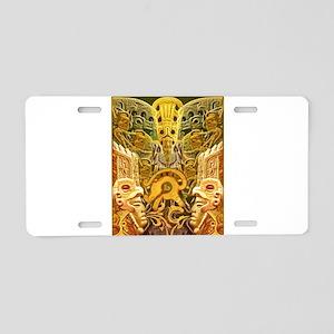 Tribal Gold Aluminum License Plate