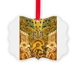Tribal Gold Picture Ornament
